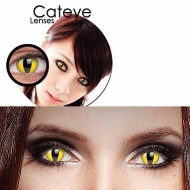 Carnaval carnaval lenzen gele katten ogen