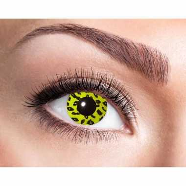 Carnaval lenzen luipaard ogen