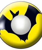 Carnaval lenzen geel met vleermuis