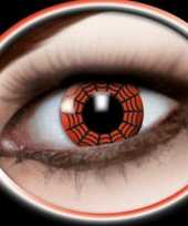 Carnaval lenzen spinnenweb rood
