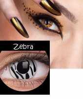 Carnaval lenzen zebra print
